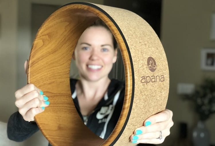 Holding Yoga Wheel