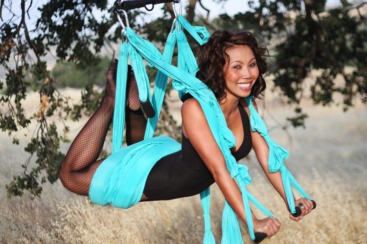 Doing Aerial Yoga